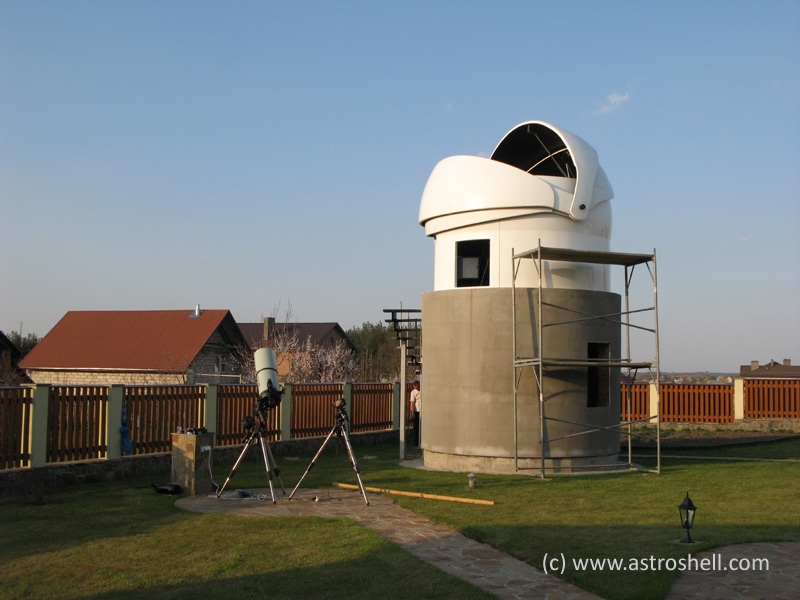 Buy Astroshell clamshell telescope dome in Kyiv, Ukraine