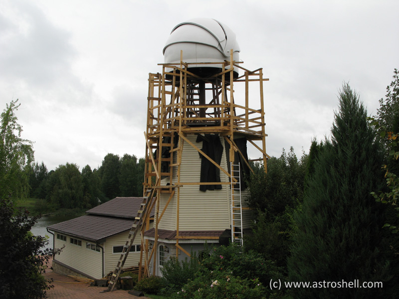 Astroshell clamshell telescope dome in Russia